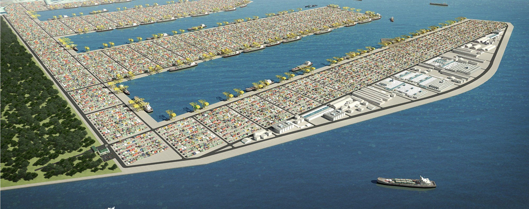 Artist's impression of the Tuas mega port. Photo: Handout