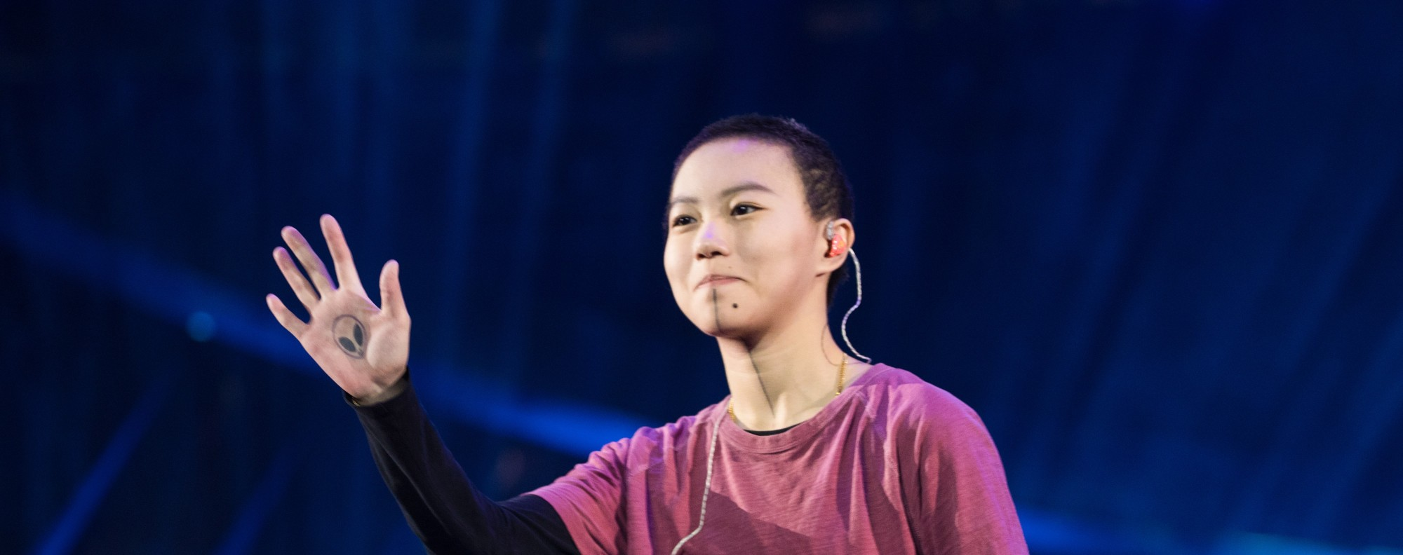 Singer-songwriter Leah Dou, performing in Guangzhou, in China. Picture: Getty Images