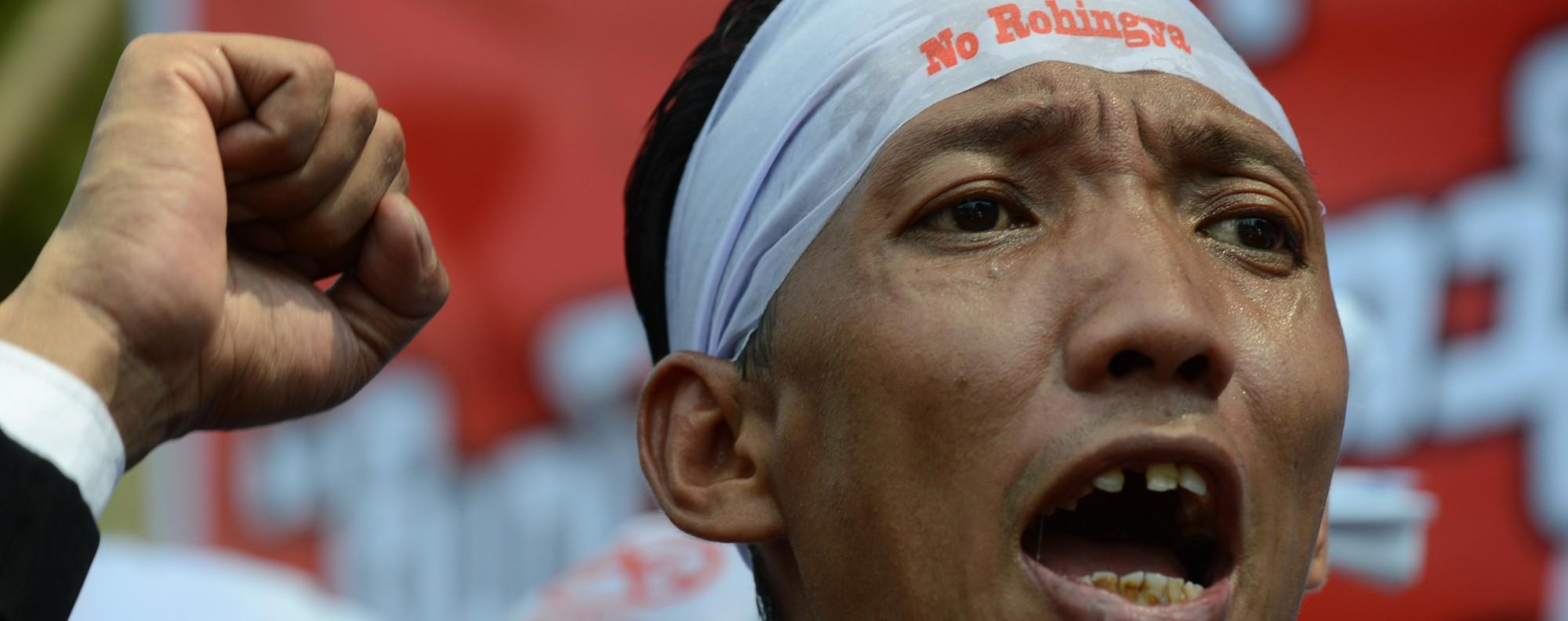 A MaBaTha rally in Yangon. Photo: AFP