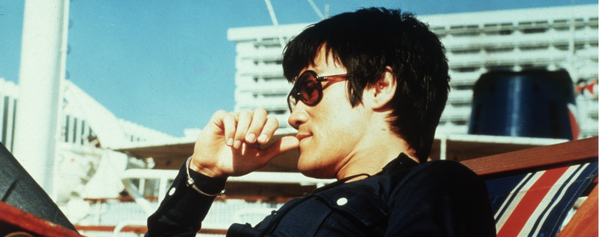 Bruce Lee in Game of Death. Lee died before the film could be finished.