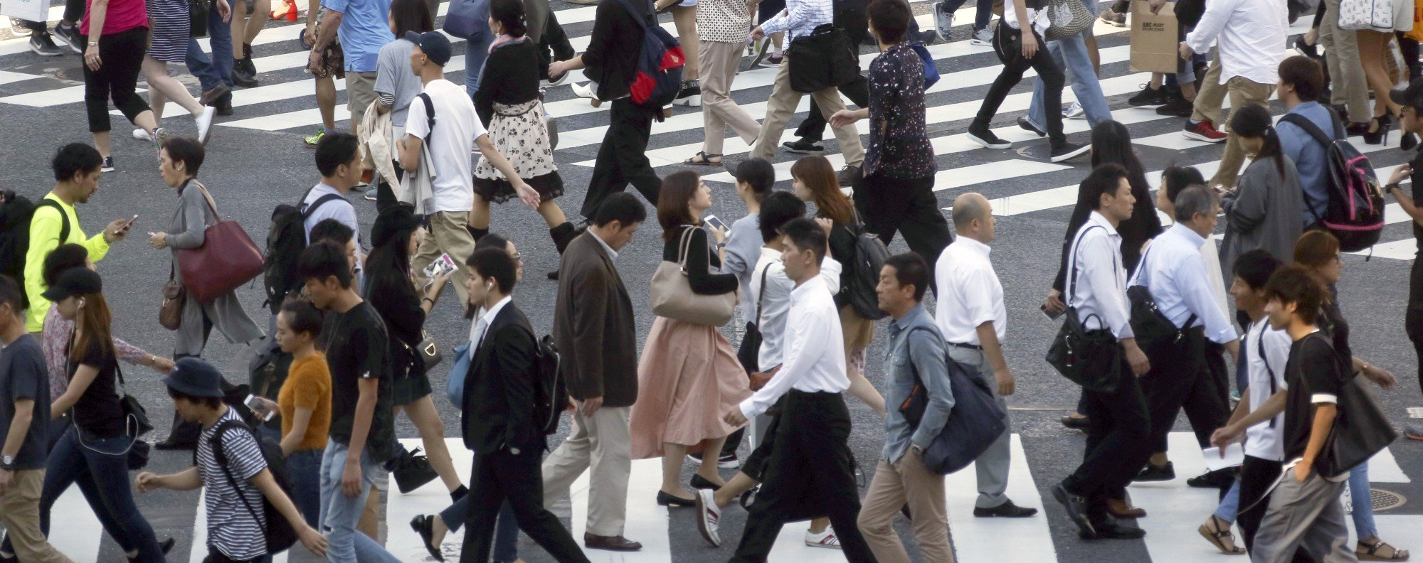 Rush hour in Tokyo. Picture: AP