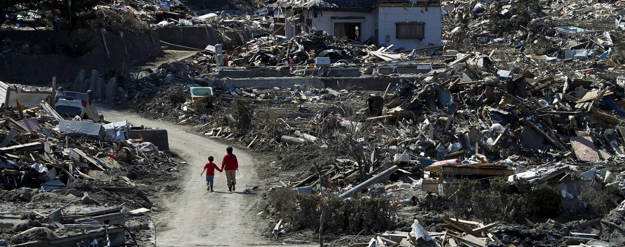 Miyako, in Iwate prefecture, Japan after the 2011 earthquake. Picture: Reuters