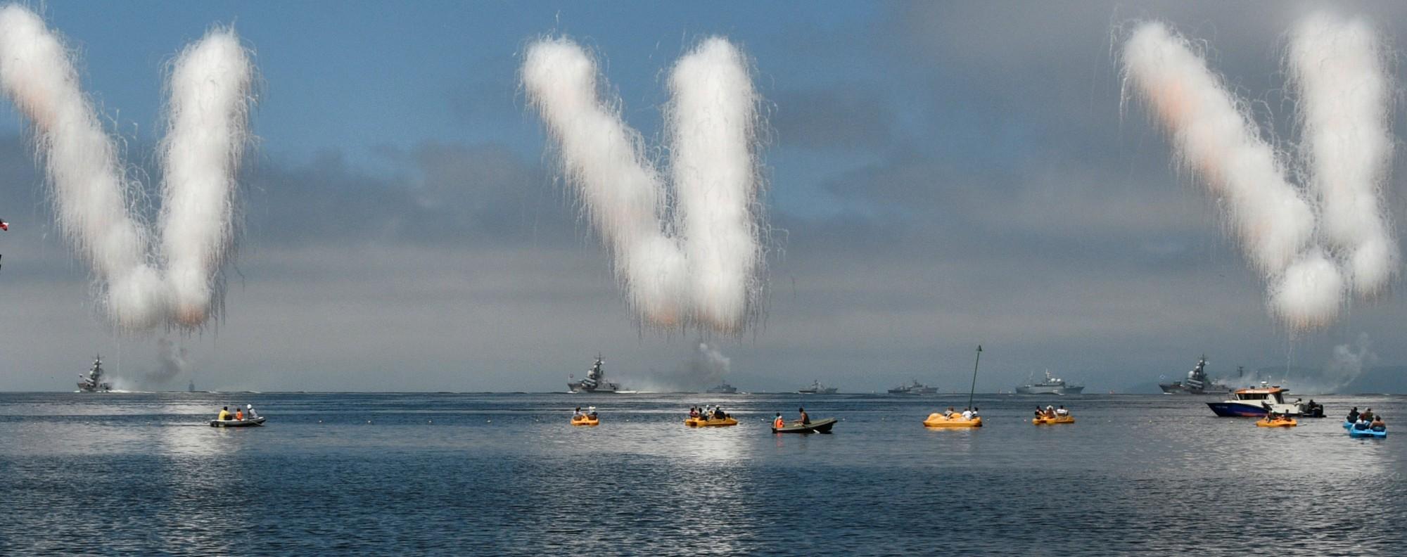 The navy day parade, Vladivostok. Photo: Reuters