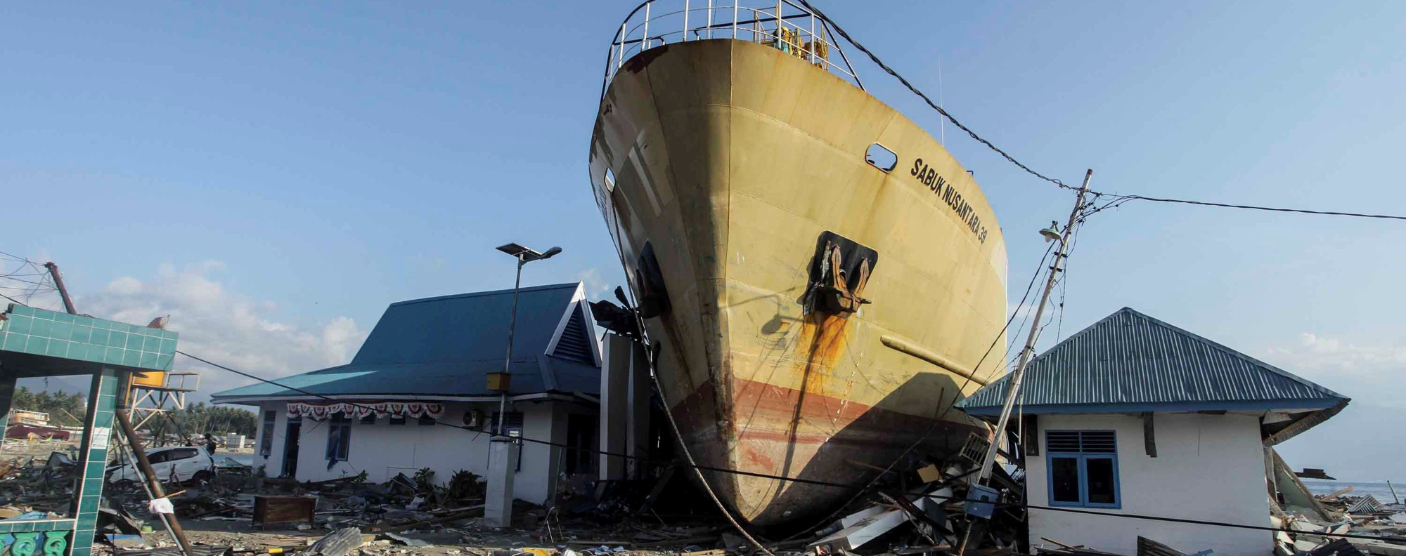 Tsunami damage in Central Sulawesi. Photo: Reuters