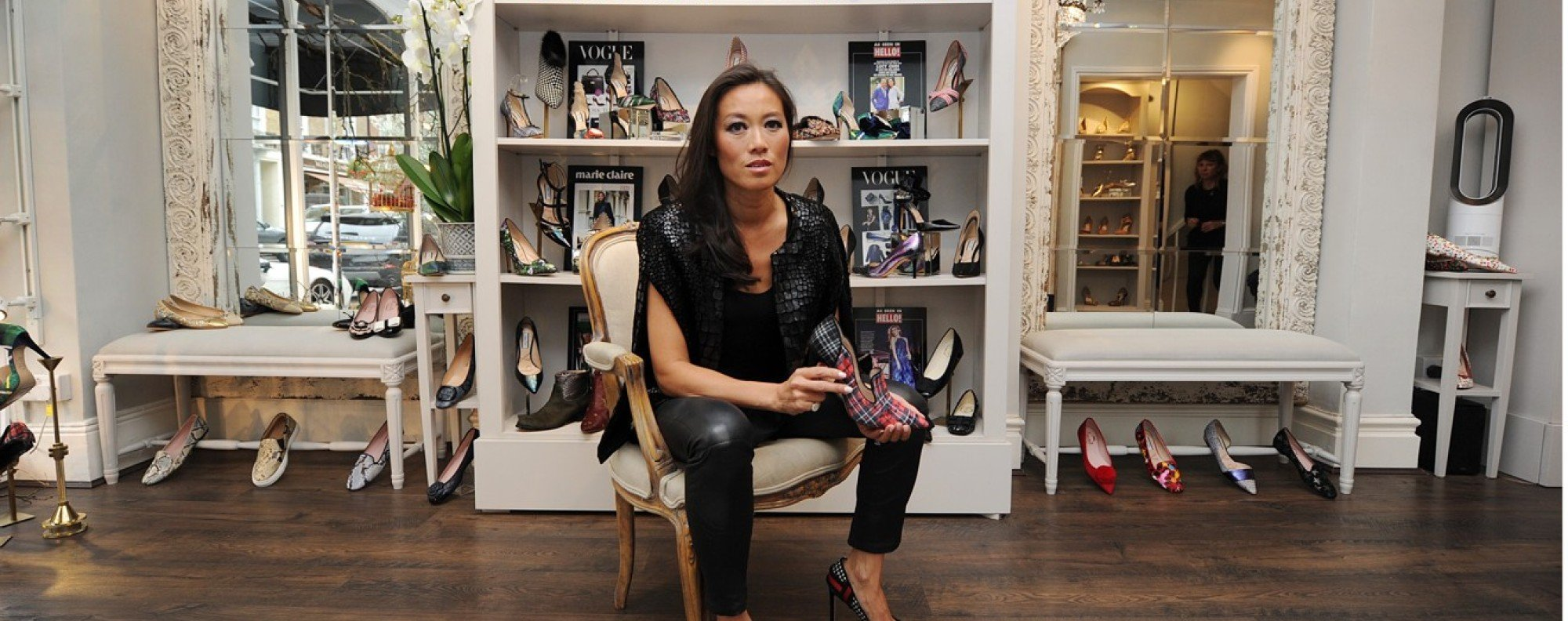 Shoe designer Lucy Choi, at her shop in London, England. Picture: Mike Clarke