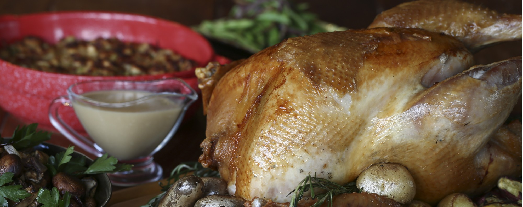 A Juicy Thanksgiving Turkey Recipe With Bread And Chinese Sausage