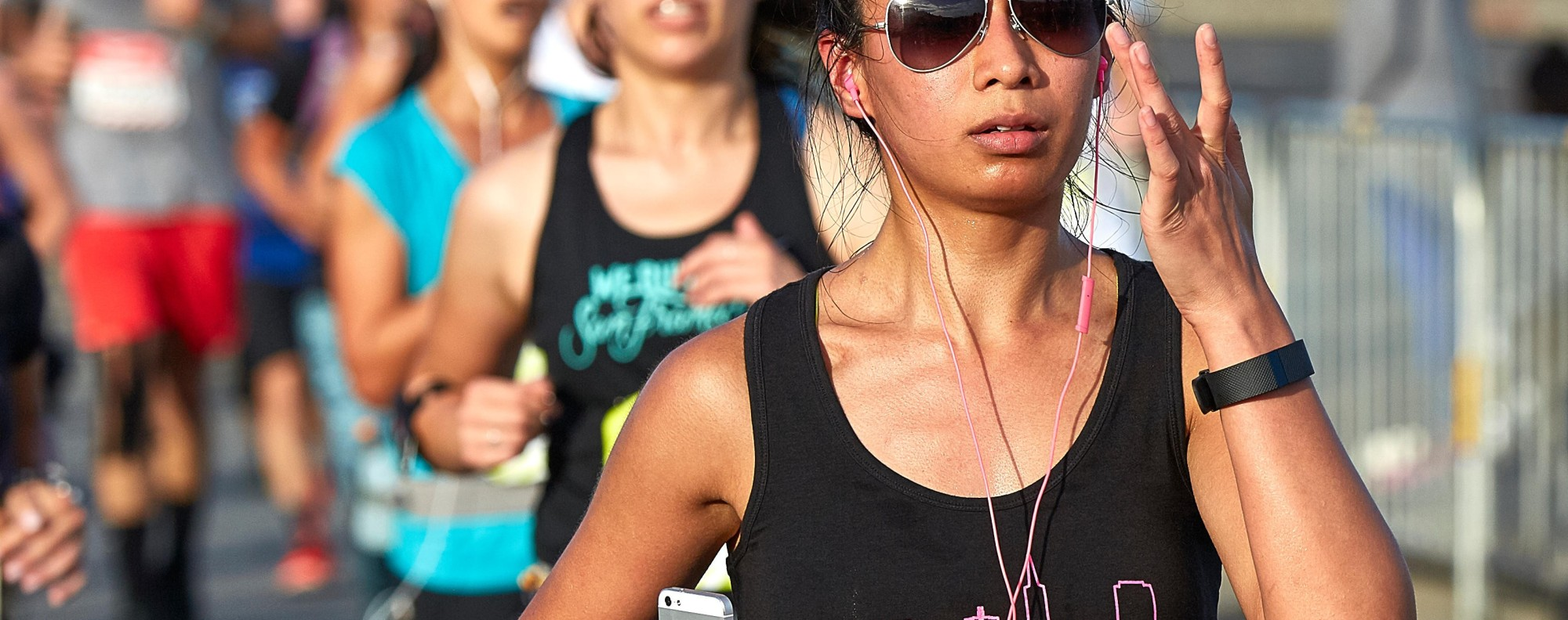 Running with headphones is fine, don't listen to the noise, unless it's music to your ears. Photo: Alamy