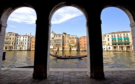 The Grand Canal, in Venice.