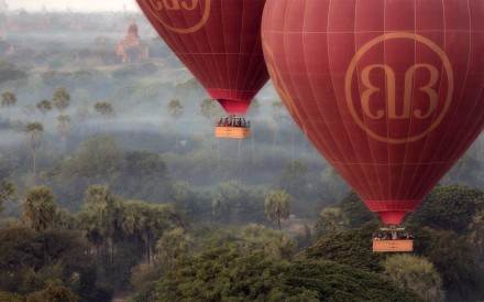 Balloons over Bagan.