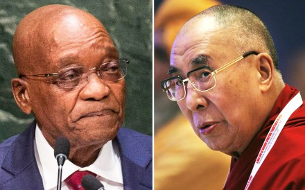 President Jacob Zuma (left) and the Dalai Lama. Photos: AP, AFP