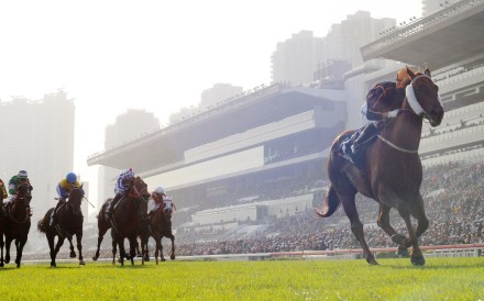 Able Friend demolishes his rivals in the Hong Kong Mile. Photo: Kenneth Chan