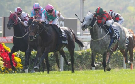 Flintshire (Maxime Guyon) displays a touch of class to beat Hong Kong's Willie Cazals (Douglas Whyte). Photo: Kenneth Chan