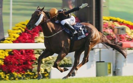 Able Friend destroys the Hong Kong Mile field. Jockey Joao Moreira says the John Moore-trained star is in great shape for Sunday's Stewards' Cup. Photos: Kenneth Chan