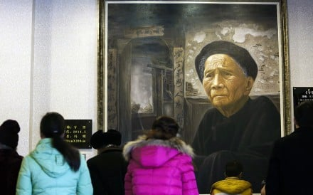 Visitors file past exhibits at the Modern Filial Piety Culture Museum in Guyi, Sichuan province. Photo: AFP