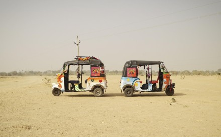 The tuk tuks used by Education Explorers.