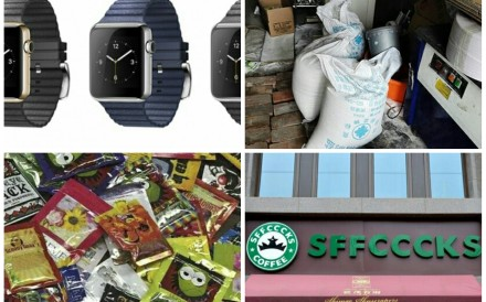 Just a sampling of China's most recent fake products. Photo: SCMP Pictures