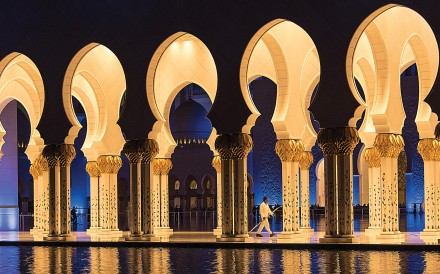 The Grand Mosque, in Abu Dhabi.