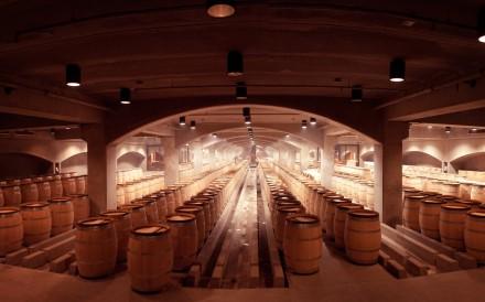 The wine cellars of Robert Mondavi Winery.