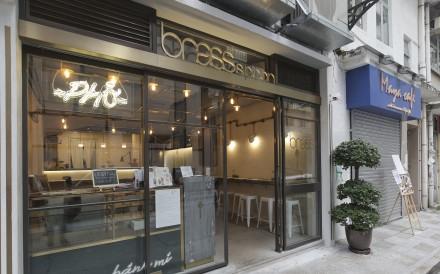 Exterior of restaurant Brass Spoon, sip B, 1 Moon Street, Wanchai. 19NOV15 [FOOD REVIEW]