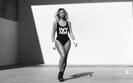 Beyoncé wearing Ivy Park, the new active wear label she co-founded.