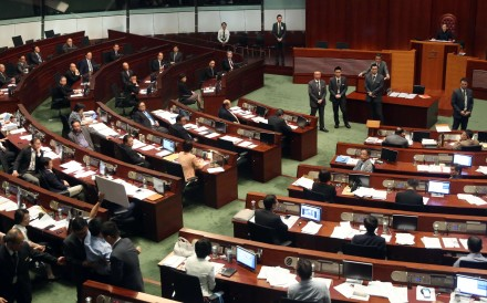 A question-and-answer session in the Legislative Council in July. Photo: Sam Tsang