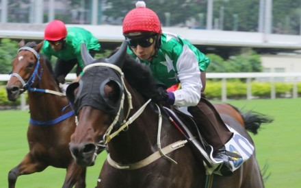 Pakistan Star ridden by Matthew Chadwick during a trial at Happy Valley. Photo: SCMP Pictures