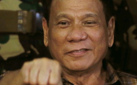 Philippine President Rodrigo Duterte will visit China from October 19-21. Photo: AP