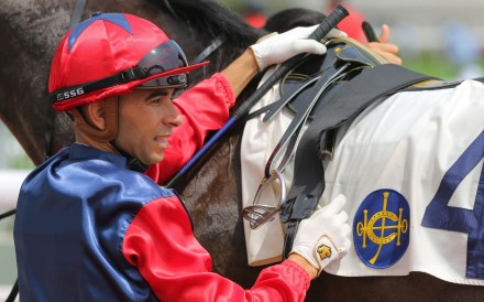 Joao Moreira is unable to ride Vadamos in Saturday's Cox Plate because of Typhoon Haima. Photos: Kenneth Chan