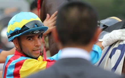 Joao Moreira hopes the Jockey Club's decision to not allow him to ride Vadamos in the Cox Plate because of Typhoon Haima won't hinder his opportunities in the future. Photos: Kenneth Chan