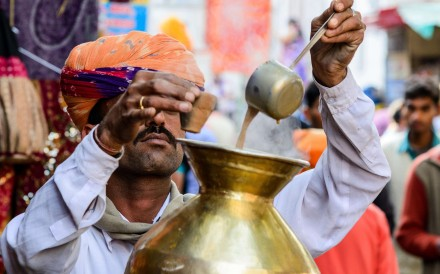 A tea seller in India. Picture: Alamy