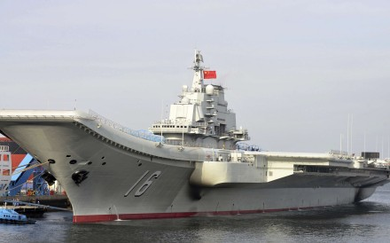 An undated file picture of China's aircraft carrier Liaoning. Photo: Xinhua