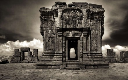 American John McDermott's use of infrared film captures an otherworldly perspective of the Cambodian temple complex