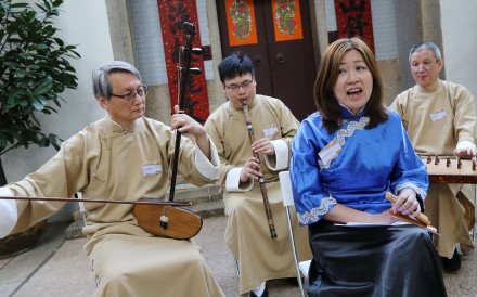Performers play Nanyin melodies on traditional Chinese instruments. Photo: Dickson Lee
