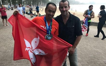 Hong Kong's Chik Wing-keung flies the flag after the final leg in Australia. Photos: Chik Wing-keung