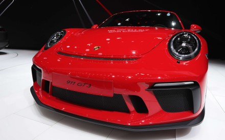A Porsche AG 911 GT3 on display on the first day of the 87th Geneva International Motor Show. Photo: Bloomberg