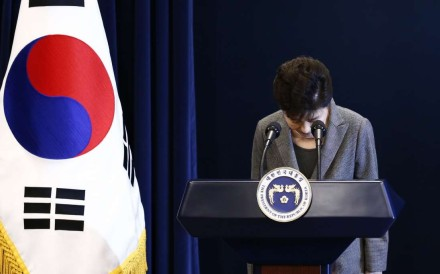 Park Geun-hye, the country's first female president, has become its first president to be removed from office by impeachment. Photo: AFP