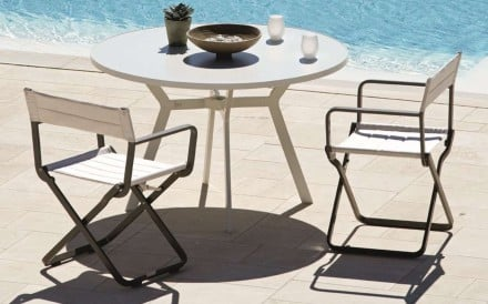 In a city where space is limited, folding chairs, such as the Piana by David Chipperfield, can come in handy. Just tuck them away when you don't need them