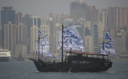The scarlet-sailed  Aqua Luna has gained a sister vessel, built at one of the last shipyards still with the skills to assemble a wooden junk by hand – skills Hong Kong itself has lost