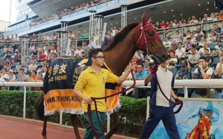 Able Friend bids farewell to his at Sha Tin on Sunday. Photos: Kenneth Chan