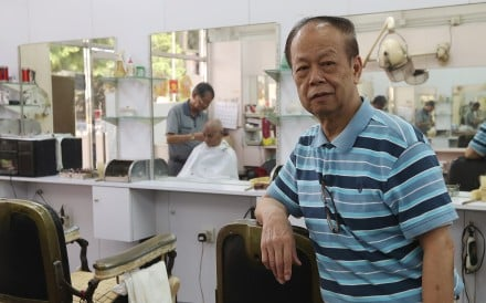 The golden days have long gone for Ko Kang-ching, owner of the Shanghai Wah Fu Beauty Parlour, and he is ready to move on. Photo: Nora Tam