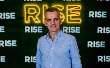 Sentient Technologies founder Antoine Blondeau at the RISE technology conference in Hong Kong. Photo: AFP