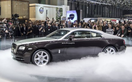 The Wraith coupe at Geneva International Motor Show in 2013. Photo: Rolls-Royce