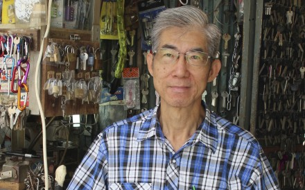 Chan Wai-tong has been a locksmith at his understairs store on Lockhart Road in Causeway Bay since 1985. Photo: Olivia Chan