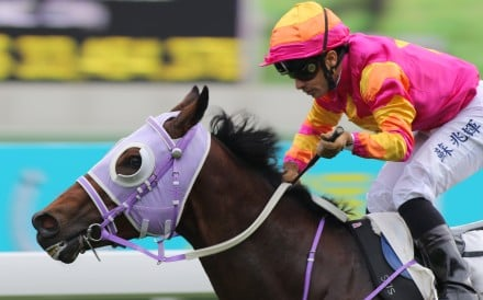 Silvestre de Sousa guides A Beautiful to victory in January. Photos: Kenneth Chan