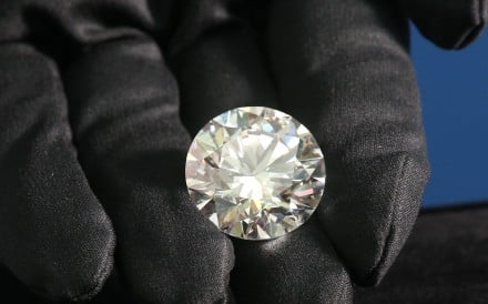 The 51.38-carat cut diamond is the largest ever produced in Russia. Photo: K. Y. Cheng