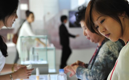 South Koreans are prodigious consumers of beauty products. Photo: AFP