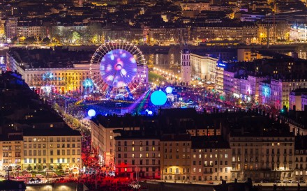 The annual event brings the French city's magnificent architecture to dazzling life