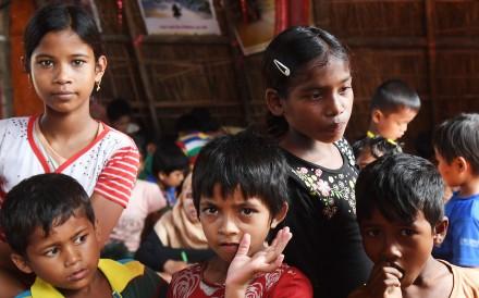 Rohingya refugees in Bangladesh's Ukhia district. . Photo: AFP