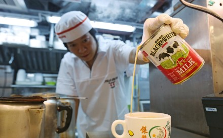 Hong Kong-style milk tea is served with evaporated milk. Photo: Dickson Lee