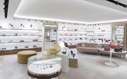 Interior of Salvatore Ferragamo's Canton Road boutique.